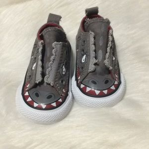 Converse boys gray dinosaur Monster shoes baby